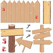 Fences and directional signs
