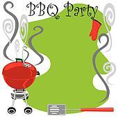 Cute BBQ Party Invitation