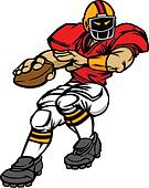 Football Player Quarterback Vector
