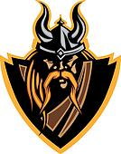Viking Mascot Vector Graphic with H