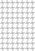 Repeating black and white straight lines pattern