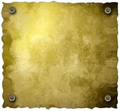 Screw parchment background isolated