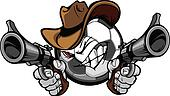 Cowboy Soccer Cartoon Shootout
