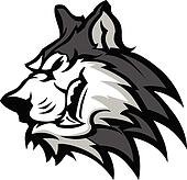 Husky Mascot Vector Graphic
