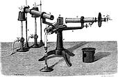 The Spectroscope or spectrophotometer, vintage engraving.