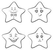 Smilies stars, contours