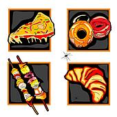halloween scary fast food icons