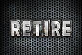 Retire Concept Metal Letterpress Type
