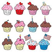 Cute cupcakes in many styles