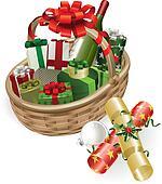 Christmas basket illustration