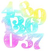 colorful vector Number