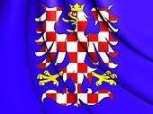 Flag of Moravia, Czech Republic.