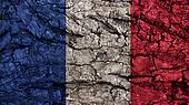 France Flag rough texture