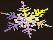 background of snow flake
