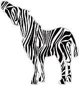 Zebra Print Silhouette