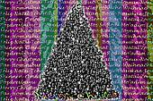 colorful Christmas greeting in many languages