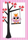 owl love birthday valentine baby