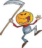 Halloween Grinning Scarecrow
