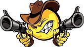 Cowboy Smiley  Vector Illustration