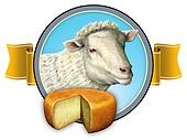 Sheep cheese lable