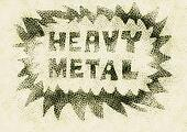 concept heavy metal music word