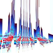 Abstract sky scraper illustration.