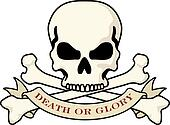 Death or Glory Skull logo