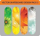 Skateboard design pack 3