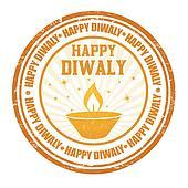 Happy Diwali stamp