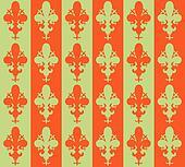 Seamless victorian flower background, wallpaper. Vector Fleur de lys