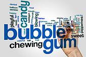 Bubble gum word cloud