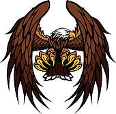 Eagle Wings and Claws Mascot Vector