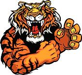 Vector Image of a Tiger Mascot