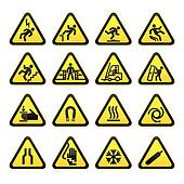 Set Simple Triangular Warning Sign