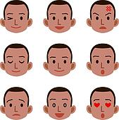 Facial Expression Clip Art - Royalty Free - GoGraph