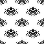 Seamless pattern for damask style fabric