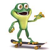 Frog play skate board