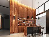 3d render  of lobby