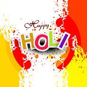 Beautiful vector background colorful grunge of holi festival design