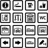 Set pictograms. Car services. Gas s