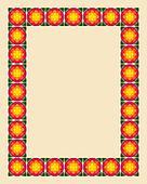 Art nouveau border photo frame