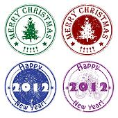 winter greetings stamps