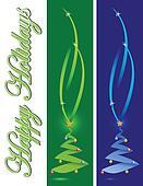 Happy holiday card christmas tree