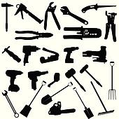 tools vector silhouette illustration