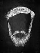 Hair, mustache, Heavy Beard