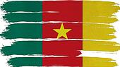 Cameroon Flag tinted horizontal