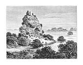 Cingolo, an Ovimbundu Kingdom in Angola, Southern Africa, vintage engraving