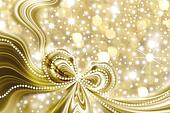 Christmas card, gold and stars