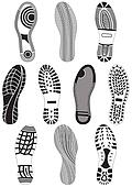 Vector illustration set of footprin