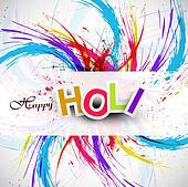 Gulal for holi festival background beautiful swirl grunge of colorful wave design
